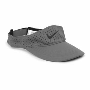 Nike Aerobill Adjustable Training Visor Gray Adult Unisex Dri-Fit AV6960-056 NWT