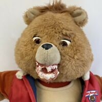 OOAK Vintage Creepy Teddy Ruxpin Doll Non-Working Horror Halloween Decor Prop