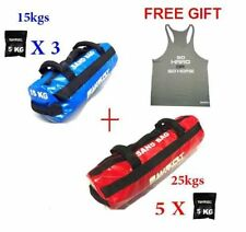 15KG & 25KG CROSSFIT SANDBAG POWER SAND BAG STRENGTH TRAINING FITNESS KETTLEBELL