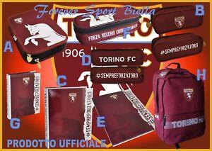 SCUOLA TORINO FC UFFICIALE : ZAINO-ASTUCCIO-RACCOGLITORE-DIARIO-CARTELLINA