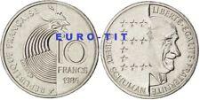 FRANCE    10  FRANCS  1986      FRANCE     SCHUMAN        ASSEZ  RARE