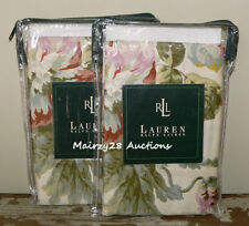 NEW Ralph Lauren WENTWORTH Shabby Cottage FLORAL Sateen STANDARD PILLOW SHAMS