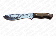 Handmade Custom Hunting Knife Natural Wood Handle. Yakut. Made in Europe.