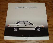 Original 1988 Toyota Corolla Deluxe Sales Brochure 88