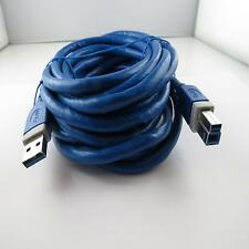 Neu 5m HAMA USB 3.0 Drucker Scanner TV Kabel Stecker A - B Stecker 5,0m 5 Meter