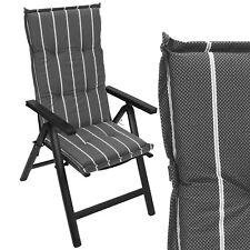 Garten Hochlehner Sitzpolster Stuhlauflage Sitzauflage 120x50cm gestreift