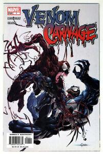Marvel Venom Vs. Carnage #1 2004 8.5 VF+ White! 1st Patrick Mulligan- Toxin!