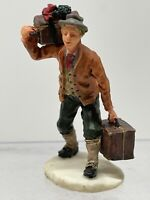 Lemax Christmas Village Figurine Resin - Luggage Carrier Guy