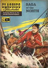 Classics Illustrated #162 SAGA OF THE NORTH Pierre Loti. British UK AUSSIE 1962!