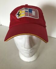 Ferrari 60th Anniversary USA Flag  Adjustable Red Driver Hat Cap. Rare
