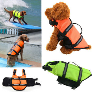 Dog Safety Life Jacket Buoyancy Aid Pet Swimming Boating Reflective Vest Suit