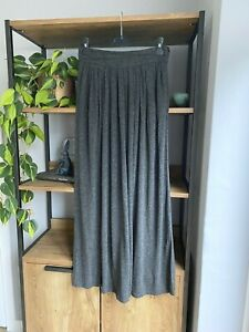 Zara Woman Size S / 10 Grey Jersey Maxi Skirt VGC Pockets