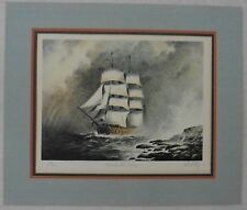 JOHN KELLY Signed Limited Edition Print ROUND THE HORN Double Matted Ship