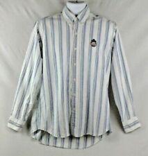 Chaps Ralph Lauren Mens Medium Button Down Dress Shirt Long Sleeve 100% Cotton