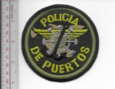 Puerto Rico Federal Police Maritime Unit Policia de Puertos Nacional Patch camo