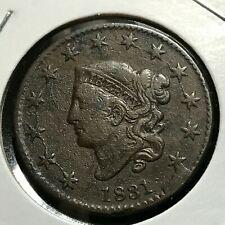 1831 Large Coronet Cent High Grade Coin