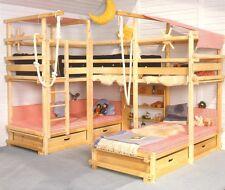 Abenteuerbett selbst bauen, Baupläne Piratenbett Spielbett Gullibo u.ähnliche