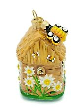 Patricia Breen Edelweiss Beeskep Bee Hive Spring Flowers Holiday Tree Ornament