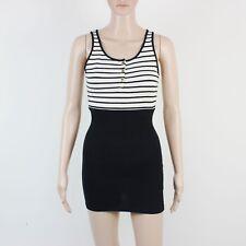 TopShop Womens Size 8 Ivory & Black Mini Short Dress