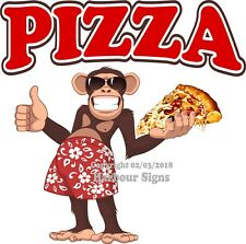 Pizza DECAL (Choose Your Size) Monkey Concession Food Truck Sticker