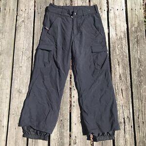 Obermeyer Ski Cargo Pants Snow Winter Black Men's Small Short Double Layered