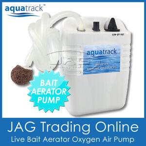 AQUATRACK LIVE BAIT AERATOR AIR PUMP - Fishing Fish Bank Tank Oxygenator Oxygen