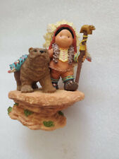 Vtg Enesco Friends of the Feather Spirit Brothers 877352 Bear Man Fast Shipping