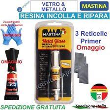 MASTINA METAL GLASS SUPER COLLA VETRO CRISTALLO METALLO SPECCHIETTI PARABREZZA