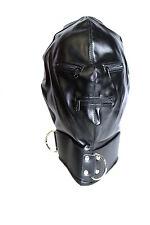 schwarze blickdichte Bondage Überzug  Maske mit Reißverschluss