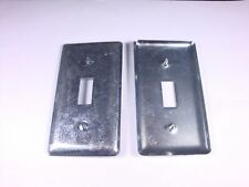 Lot of 2 2594 Appleton Electric Handy Box Cover 4 x 2-1/8 One Switch 865 58C30