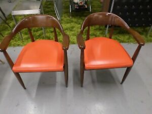 MID CENTURY MODERN CHAIRS - MADE BY BOILING CHAIR COMPANY [RARE]