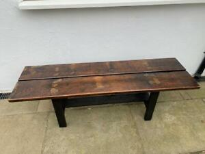 Bench Oak Weathered Reclaimed Vintage Refurbished, Over 85 Years Old, Very Rare!