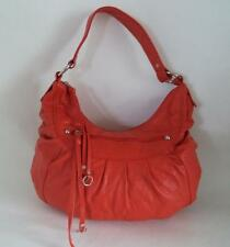 TOMMY AND KATE RED LEATHER SHOULDER BAG HANDBAG SLOUCH