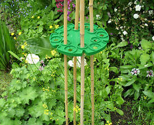 Garden Cane Wigwam Grips Plastic Holds 6 Canes, For Sweet Peas Beans pk 2, Supa