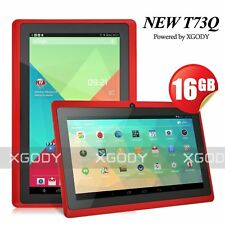 "7"" inch 16GB Tablet PC Android 4.4 Quad Core Dual Camera Touch Bluetooth WIFI HD"
