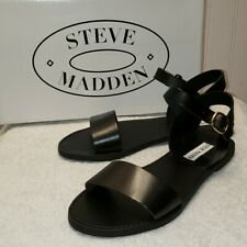 Steve Madden Dondi black leather sandal, 7