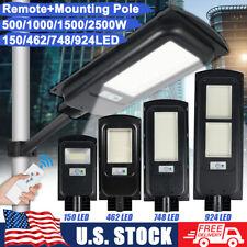 HYMELA  2500W Solar Street Light PIR Motion Garden Road Wall Lamp Remote+Pole