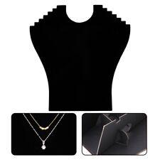 Velvet Necklace Pendant Jewelries Display Bust Mannequin Stand Holder Black Rack