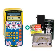 TI Little Professor Taschenrechner + Schutztasche GeometrieSet Lern-CD