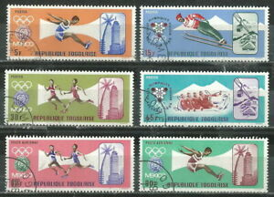 TOGO 1967 '' OLYMPIC GAMES,MEXICO '' SET POST+AIR USED (56)