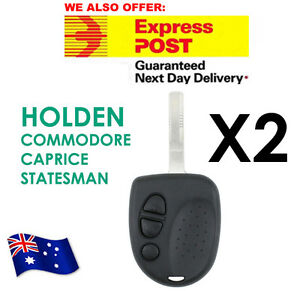 FOR 2 x Holden Commodore 3 Button Car Remote Case Uncut Key VS VX VY VZ WH WK WL