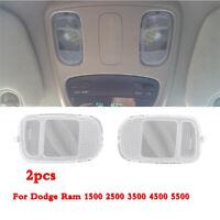 2x Car Interior Overhead Reading Light Lamp Clear Lens For Dodge Ram 2002-2010