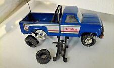 Tonka Pick Up Truck Vintage Metalic Blue 11062 1980's +jack+5 tyresall changable
