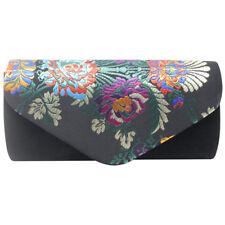 Fashion Embroidery Clutch Bag Evening Stain Prom Wedding Bridal Shoulder Handbag