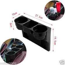 Universal Black 2 Cup Holder Drink Beverage Seat Seam wedge Car Auto Truck Mount