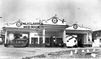 1920 VINTAGE MEXICO SINCLAIR GAS STATION PHOTO ART DECO STYLE PUMP OIL CAN TIRE