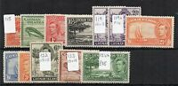 Cayman Islands 1938-48 vals to 2s MLH