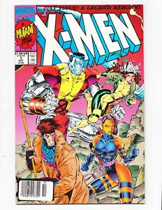 X-Men 1 1991 Jim Lee Newsstand Sticker UPC Variant Gambit Psylocke Cover