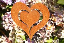 Herz Edelrost Gartenstecker Deco Garten Metall ausgebrannt rost