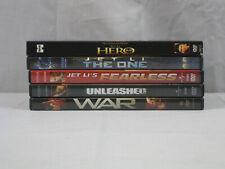 Jet Li 5 movie Dvd lot Hero, The One, Fearless, War, Unleashed. Vg